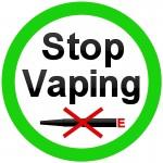 stop vaping logo